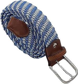ESPERANTO Cintura 3,5 elasticizzata trama obliqua-finiture in cuoio e fibbia nichel free anallergica(TAGLIE FORTI : DA 135...