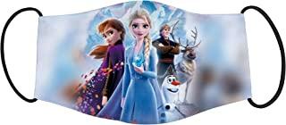 Vista Frozen 2 characters Printed Mask for Kids/Cotton Reusable Washable Mask Size 18x10cms