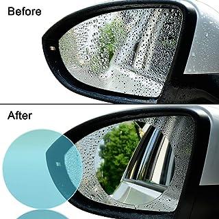 Cupidkiss Car Rearview Mirror Protective Film, Anti Water/Rainproof/Anti-Glare/Mist Film/Anti Fog/Anti-Scratch Nano Coating 4 PCS Rear View Mirror Window Clear Nano Film (Clear)