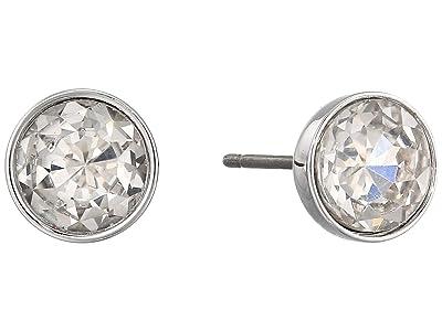 Kate Spade New York Reflecting Pool Mini Round Studs Earrings (Clear/Silver) Earring