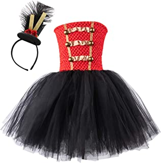 AQTOPS Girls Christmas Party Nutcracker Costumes Drum Majorette Performance Outfits with Headband