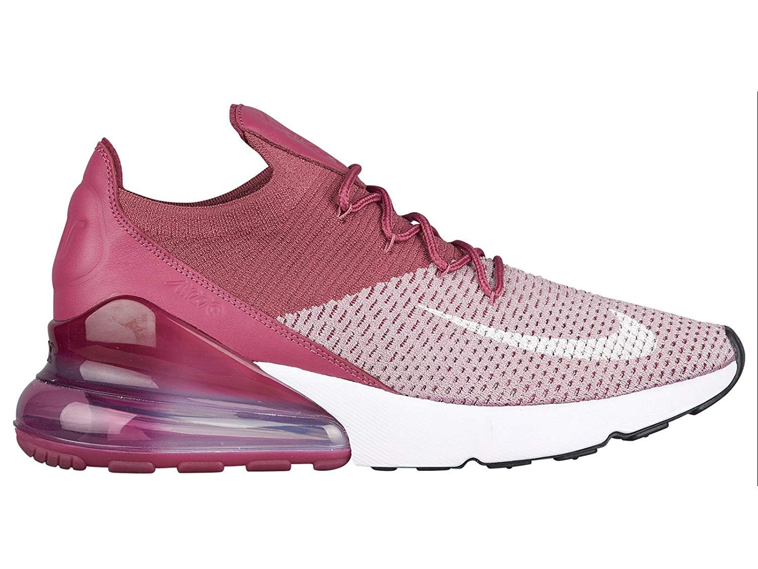 best authentic eb9bb 71cfe NIKE Mens Air Max 270 Flyknit Plum Fog White Vintage Wine Total Crimson  Nylon Basketball Shoes 12 (D) M US