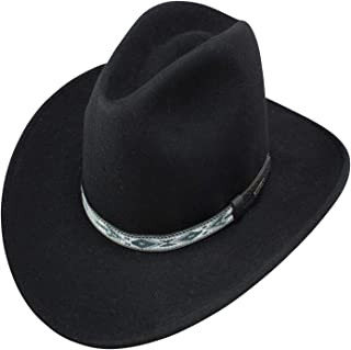 ecaaafa807ab19 Stetson Men's Granger Crushable Wool Leather Hatband Western Cowboy Hat -  Black