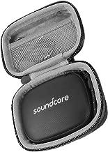 co2crea Hard Travel Case for Soundcore Icon Mini Anker Waterproof Bluetooth Speaker Explosive Sound (Black Case + Black Zipper)