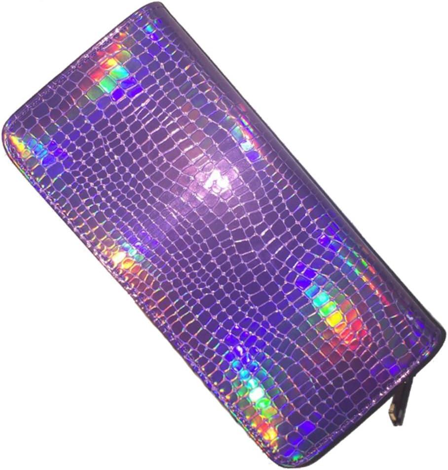Chiclinco Hologram Long Wallets Zipper Clutch Purse Holder Card Columbus Mall High material