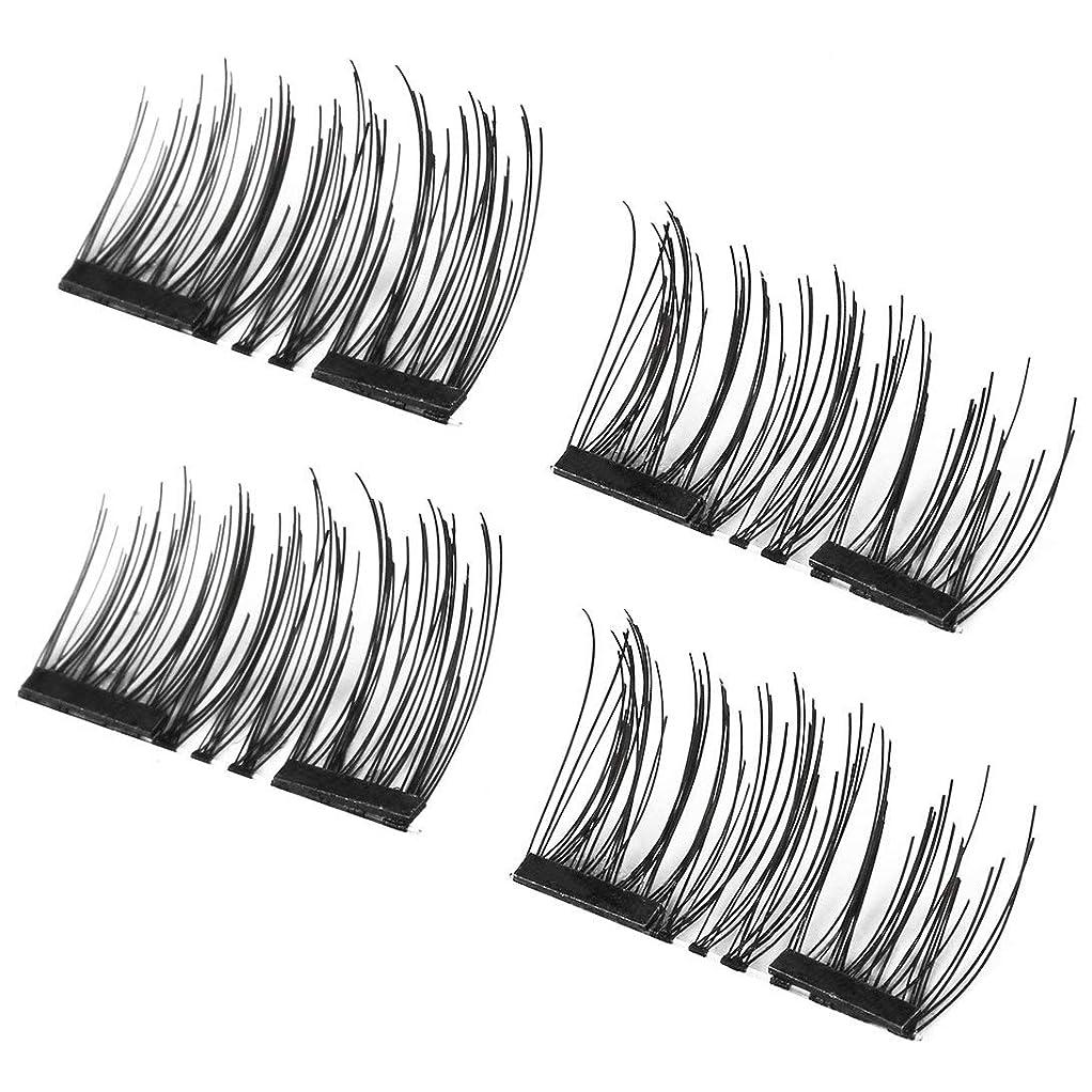 柔らかい考えるSwiftgood 4ピース/セット軽量ナチュラル厚い目まつげ3D磁気手作り耐久性のある女性の厚いつけまつげツール001