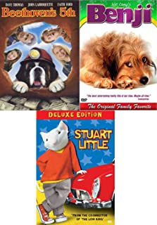 MouseDog Deluxe Stuart Little + Beethoven's 5th + The Original Family Favorite Movie Benji Dog Feature DVD Family Fun Adventures