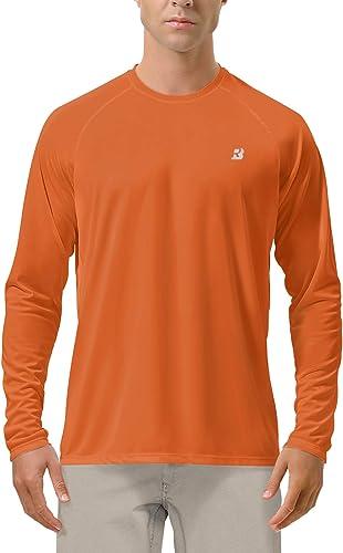 Roadbox UPF 50+ Fishing Shirts for Men Long Sleeve UV Sun Protection Tops