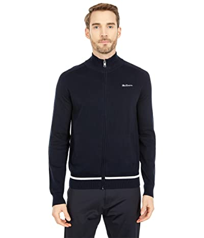 Ben Sherman Full Zip Sweater (Dark Navy) Men