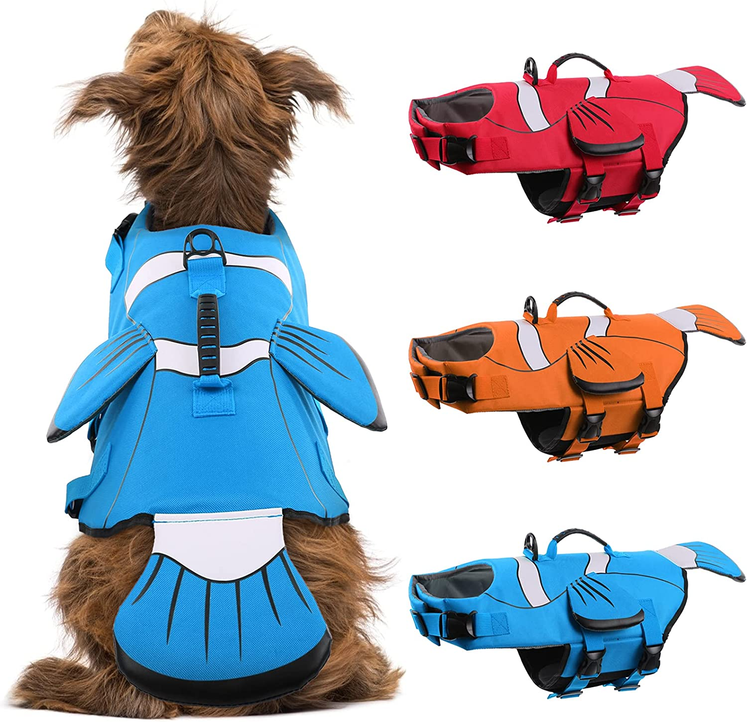 DENTRUN Dog Life Jacket Safety for Max 67% OFF and trust Adjustable Swimming Pu Vests