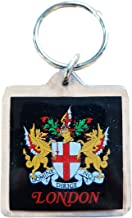 City of London Key Chain / Artistic London Keychains, Crest, England, Key Ring, Keyring, Souvenir Plastic Square Keychains! Artistique! / Künstlerisch! / Artistico! / artístico! Crest of London Keychain! Porte-clés! / Schlüsselanhänger! / Portachiavi ! / llaveros!
