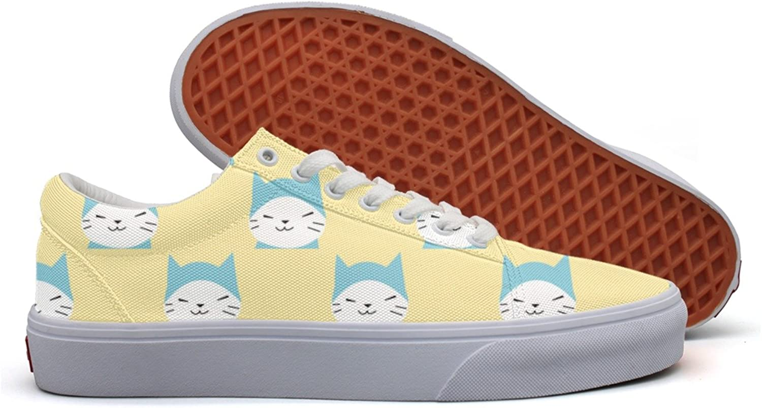 Womens Cartoon Kitty Cat Meow Breathable Sneakers