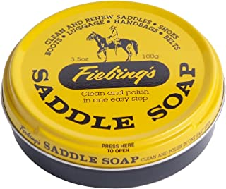 Fiebing's Saddle Soap Yellow 3.5 oz | Polish and Clean Leather | Revives Color