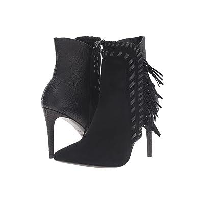 Kennel & Schmenger Contrast Stitch Fringe Boot (Black) Women