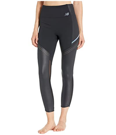 New Balance Q Speed Run Crew Tights (Black) Women