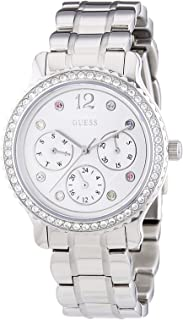 Guess Womens Quartz Watch, Analog Display and Stainless Steel Strap W0305L1