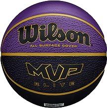 Wilson Basketball, MVP ELITE BSKT 295 PRBL, Größe: 7, Gummi-Material, Für Innen- und Außennutzung, Violett/schwarz, WTB146...
