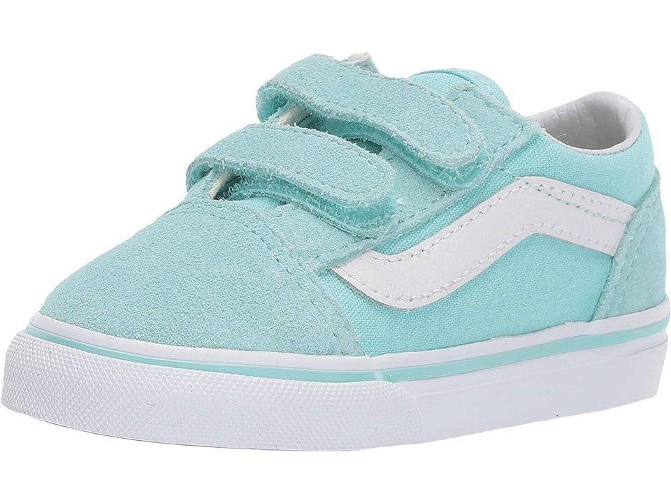 Vans Kids Old Skool V (Toddler) (Blue TintTrue White) Girls