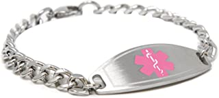 My Identity Doctor Black//White Millefiori Glass Pre-Engraved /& Customized Gastric Bypass Medical Bracelet