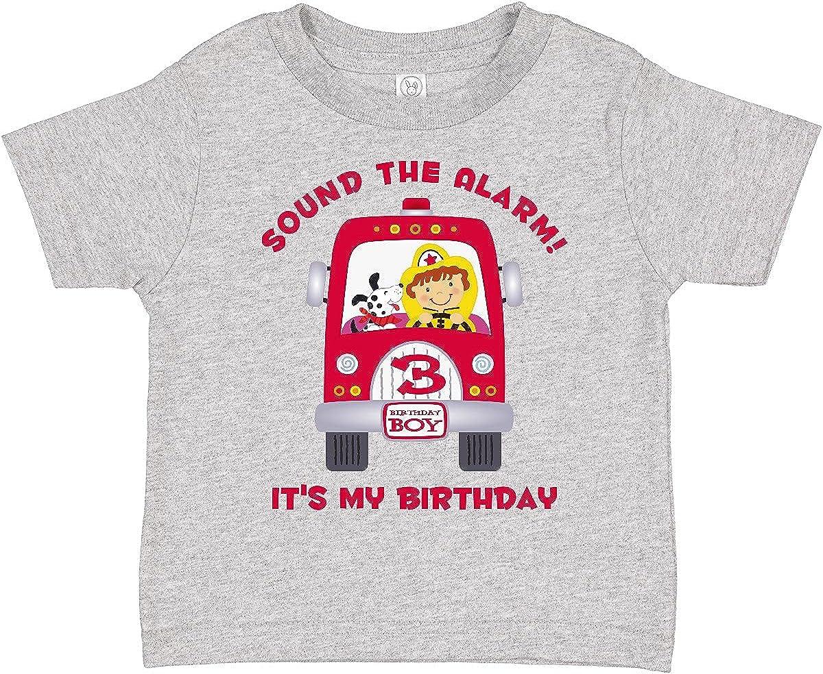 inktastic Fire Truck 3rd Birthday Boy Toddler T-Shirt