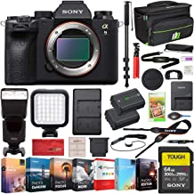 $4498 » Sony a9 II Full Frame Mirrorless Interchangeable Lens Camera Body ILCE-9M2 Including Deco Gear Case Wireless Flash 64GB Memory Card Extra Battery Monopod Power Editing Bundle