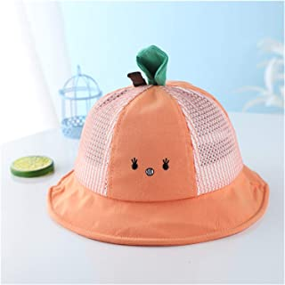 Newborn Baby Sun Cap Baby Bonnet Flower Baby Hat with Cartoon Radish Leaves Kids Girls Bucket Hat (Color : Gold, Size : On...