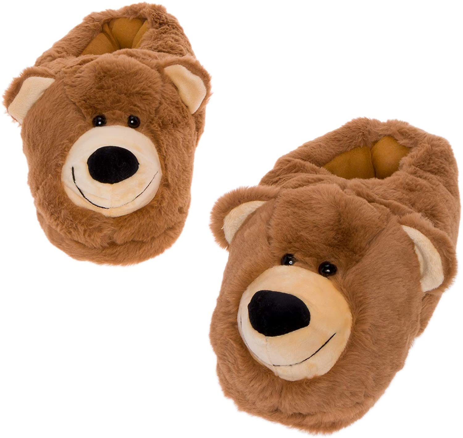 National products Silver Lilly Bear Face Slippers Under blast sales - House Animal Plush Sho Novelty