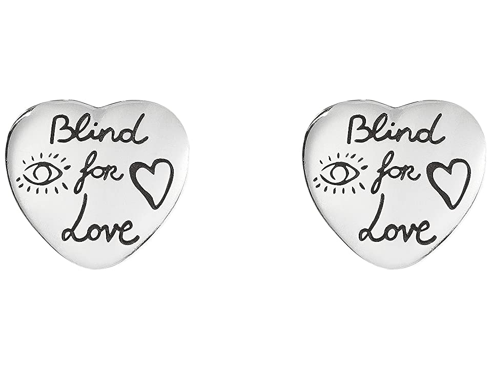 Gucci - Gucci Blind for Love Stud Heart Earrings