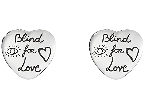 Gucci Blind for Love Stud Heart Earrings
