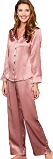 Julianna Rae Women's 100% Mulberry Silk Pajama Set, Relaxed Fit PJs, Natalya Collection, Sleepwear, Lingerie