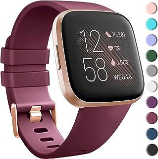 Tobfit Sport Bands Compatible with Fitbit Versa/Versa 2/Versa Lite/Versa SE, Soft TPU Wristbands Accessories for Women Men