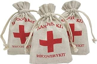 Ankirol 20pcs Burlap Bags 3.9x5.5'' with Drawstring Hangover Kit Bags Recovery Kit Survival Kit Drawstring Pouches Favor Bags Muslin Bags (handover kit)