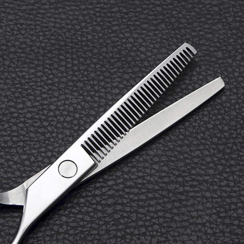 導入する平和苦6インチの理髪はさみ、ステンレス鋼の歯はさみをはさみます モデリングツール (色 : Silver)