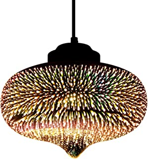 Newrays Modern 3D Glass Colourful Fireworks Creative Pendant Light Fixture with 27 cm Lampshade(P3D010)