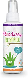 Hair Detangler Spray for Kids. Made with Organic Aloe Vera Juice and Natural Vitamins to Hydrate. Organic Detangler and Leave In Conditioner for Children & Adults. No Chemicals or Fragrance. USA Made.