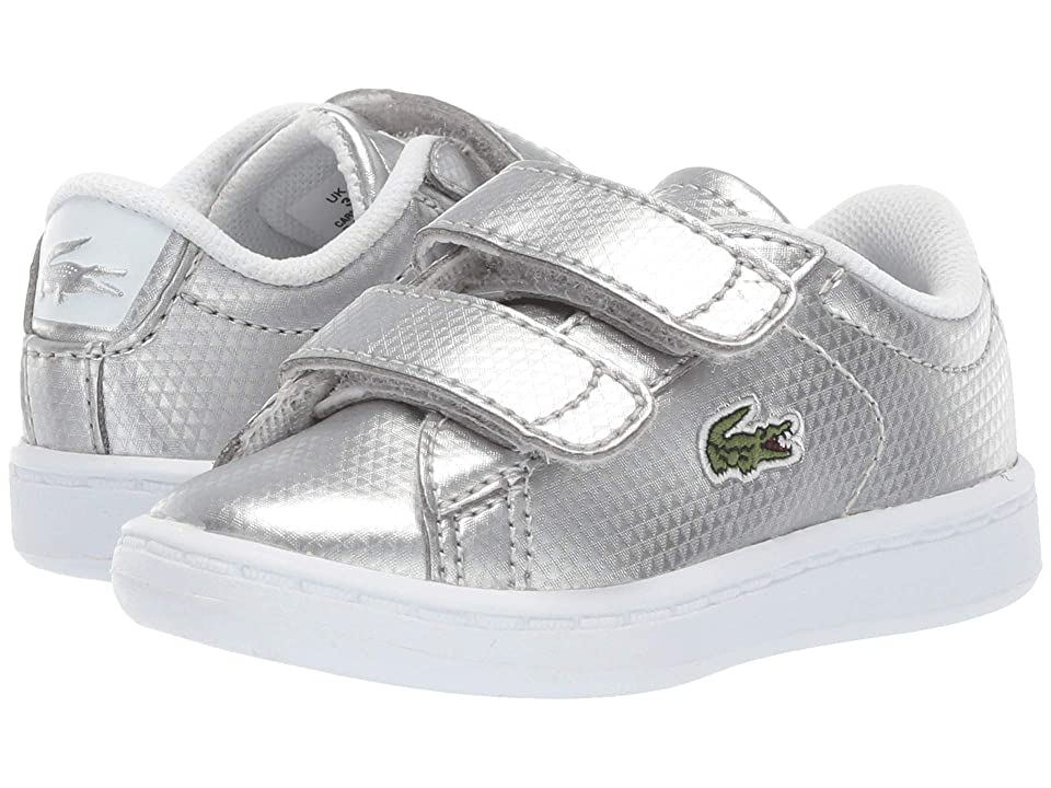 Lacoste Kids Carnaby Evo 119 6 SUI (Toddler/Little Kid) (Silver/White) Girl
