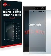 savvies Cristal Templado Compatible con Wiko Ridge 4G Protector Pantalla Vidrio Proteccion 9H Pelicula Anti-Huellas