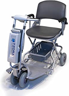 TZORA CLASSIC Lexis Light Travel Scooter SILVER + Challenger Mobility Cover