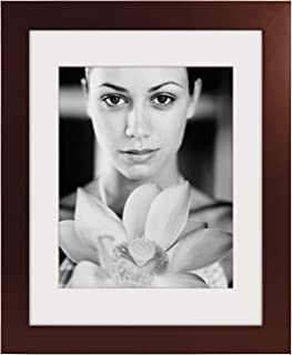 Malden 16x20 Espresso Matted Picture Frame - Made to Display Pictures 11x14 with Mat, or 16x20 without Mat - Espresso