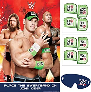 amscan Grand Slammin' WWE Birthday Party Game Activity (4 Pack), Assorted Size, Multicolor