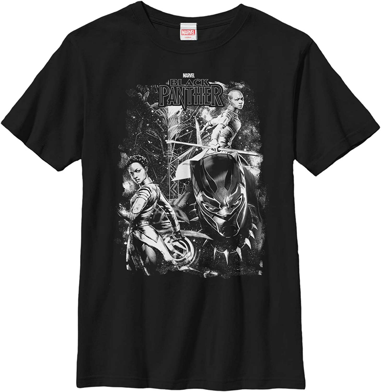 Fifth Sun Marvel Universe Panther in Starsz Boy's Solid Crew Tee