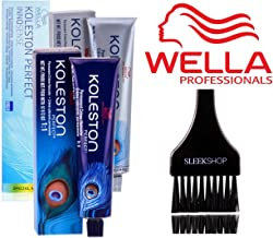 Wella KOLESTON Perfect Permanent Creme Haircolor, 2 oz (with Sleek Tint Brush) (6/0 Dark Blonde Natural)
