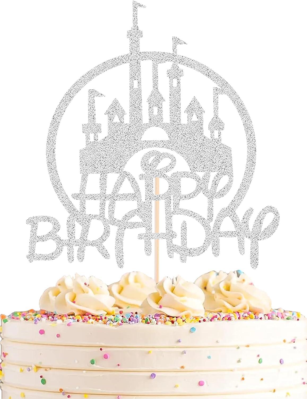 AHAORAY Castle Birthday Sale SALE% OFF Cake Ranking TOP16 Topper Them Silver - Glitter