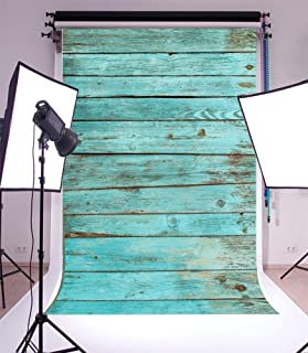 Yeele 5x7ft Blue Vintage Wood Board Photography Backdrops Vinyl Retro Hardwood Shabby Wood Floor Photo Background for Boy Adult Kid Baby Artistic Portrait Photo Video Shoot Studio Props