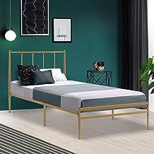 Metal Single Bed Frame Base, Gold