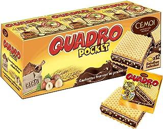 Cémoi - Etui Quadro Pocket Gaufrettes Fourrées, Chocolat Praliné, 9 Gaufrettes Emballées Individuellement - Fabriqué en Fr...
