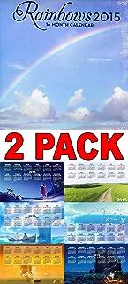 2015 Rainbows 16 Month Wall Calendar + Free Bonus 2015 Magnetic Calendar