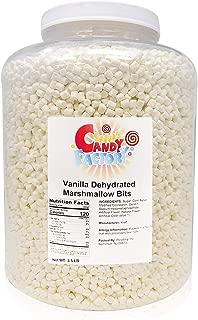 Vanilla Dehydrated Marshmallow Bits, 3.5 Lbs in Jar