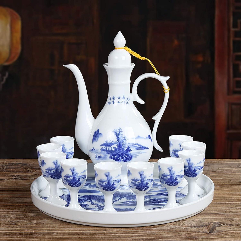 Wencizhai At the price Wine Set White Chinese Ceramic Indefinitely Glass H