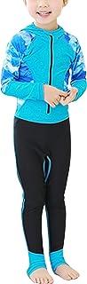 ウェットスーツ フルスーツ キッズ ジュニア 女の子 男の子 サーフィン ダイビングスーツ 水着 90-140cm 長袖 防寒 ラッシュガード uvカット